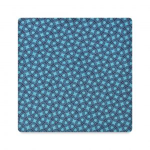Viola Milano Printed Silk Tie - Maillon Chain Pattern Turquoise/ Sea