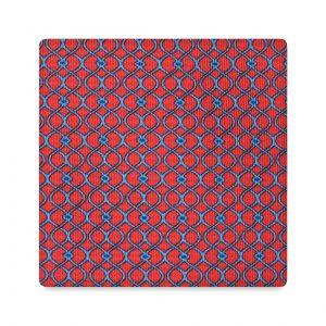 Viola Milano Printed Silk Tie - Wave Chain Pattern Fuchsia Mix