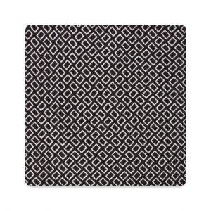 Viola Milano Printed Silk Tie - Micro Square Black/ White
