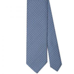 Viola Milano Printed Silk Tie - Maillon Chain Pattern Sea Mix