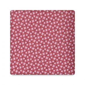Viola Milano Printed Silk Tie - Maillon Chain Pattern Rosa/ Rosso