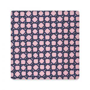 Viola Milano Printed Silk Tie - Floral Chain Pattern Pink