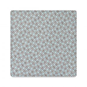 Viola Milano Printed Silk Tie - Maillon Chain Pattern Methanol