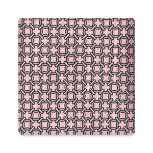 Viola Milano Printed Silk Tie - Artisan Chain Pattern Pink