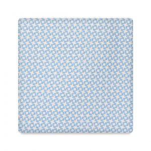 Viola Milano Printed Silk Tie - Star Pattern Light Blue
