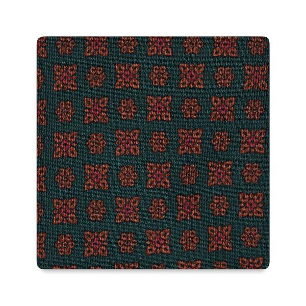 Viola Milano Printed Silk Tie - Artisan Floral Verde