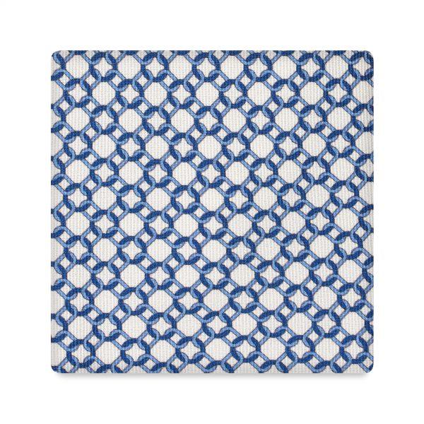Viola Milano Printed Silk Tie - Chain Pattern Ivory