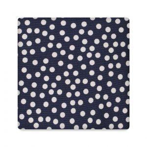 Viola Milano Printed Silk Tie - Multi Dot Navy