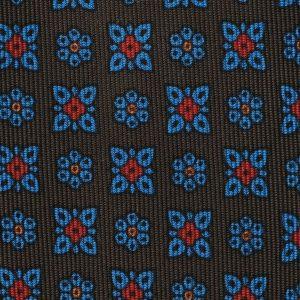 Viola Milano Printed Silk Tie - Artisan Floral Brown