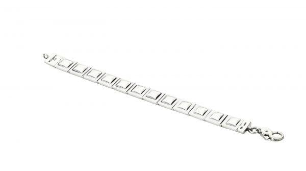 Osvaldo Benvenuti l JW86 – San Giovanni quadrati e bordo lucido imperniato Bracelet